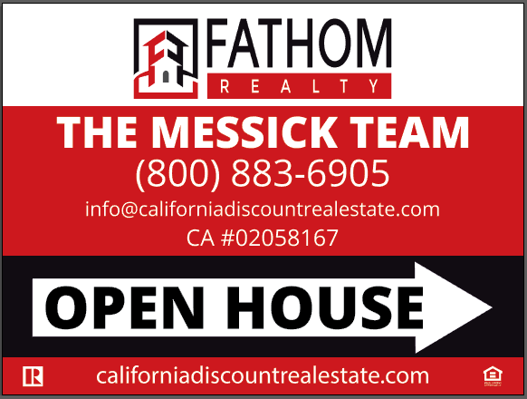 fathom-realty-open-house-sign